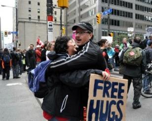 Blameless Hugging 4 Free Hugs