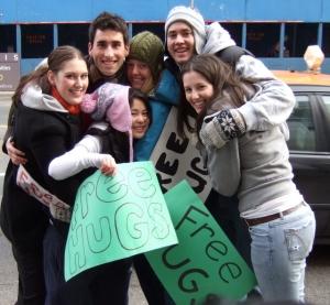 Blameless Hugging 5 Free Hugs