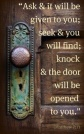 Blameless Door Knock