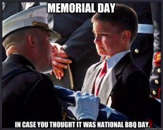 Blameless Memorial Day. In case you thought it was National BBQ Day