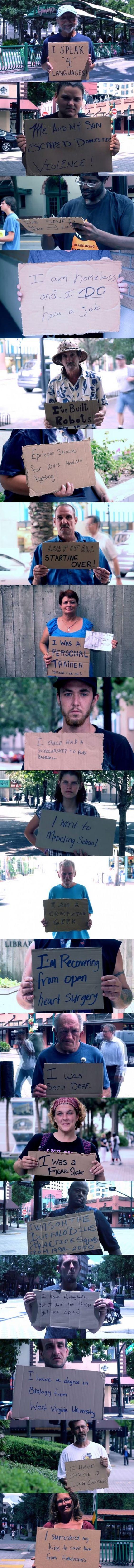 Blameless Homeless Cardboard Stories