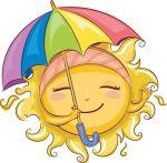 smiley face umbrella