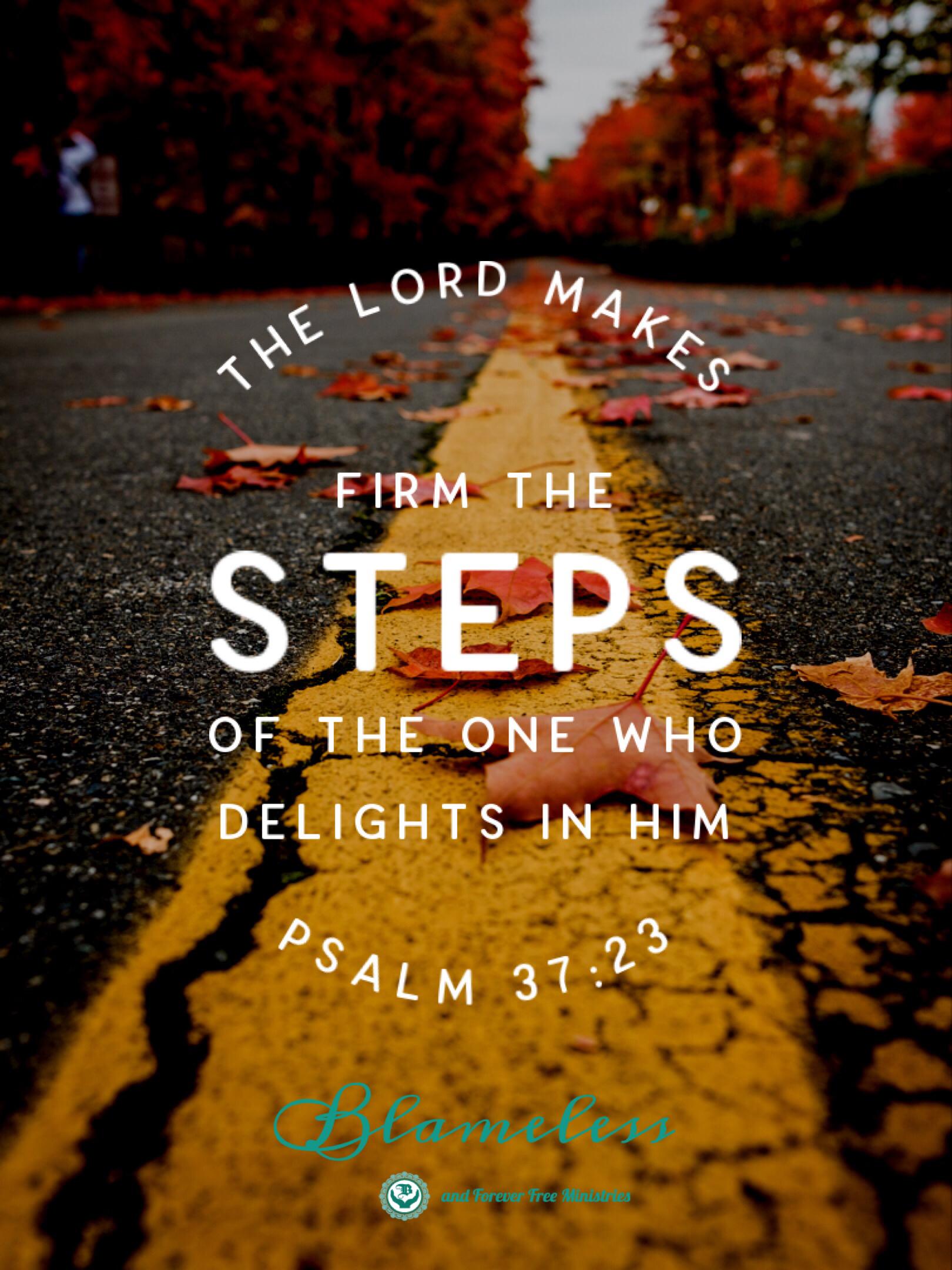 Blameless Psalm 37.23