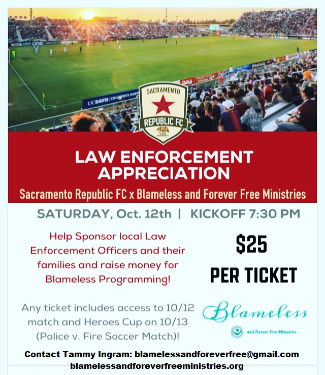Help sponsor law enforcement and their families while raising money for Blameless' programming!
