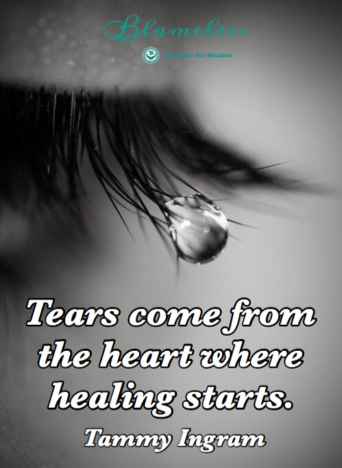 Chaplain Tammy believes that Tears come from the heart where healing starts.