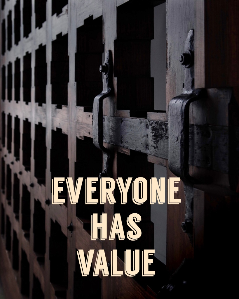 Blameless and Forever Free Ministries, along with Chaplain Tammy, believes everyone has value!