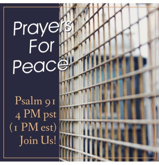 Blameless and Forever Free Ministries Prayers For Peace