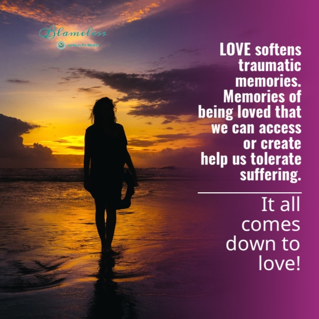 Blameless and Forever Free Ministries and Chaplain Tammy believes that love softens traumatic memories. Memories of being loved that we can access or create help us tolerate suffering. It all comes down to love. Happy Valentine's Day!