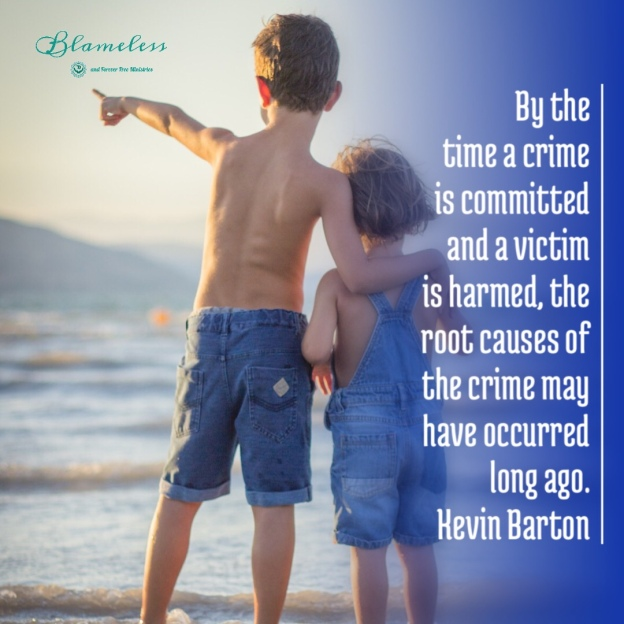 Blameless and Forever Free Ministries and Chaplain Tammy believe by the time a crime is committed and a victim is harmed, the root causes of the crime may have occurred long ago. D.A. Kevin Barton